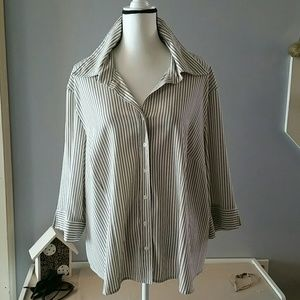 NWOT striped button down 3X